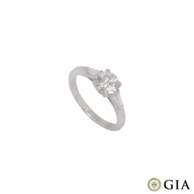 Round Brilliant Cut Diamond Ring in Platinum 1.00ct G/I1
